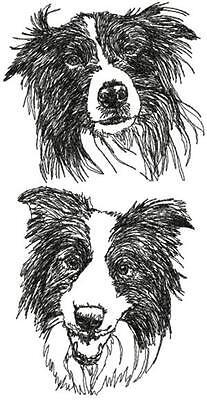 Collie Embroidered Fleece - Border Collie Dog Personalized Embroidered Fleece Stadium Blanket