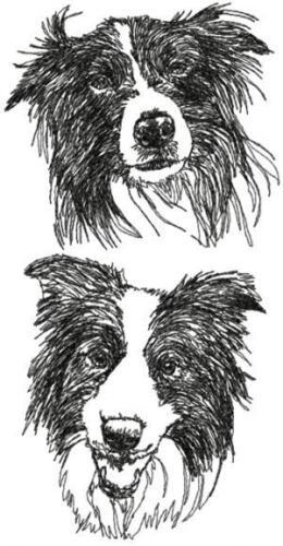 Border Collie Dog Personalized Embroidered Fleece Stadium Blanket