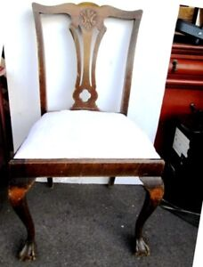 ANTIQUE CLOW FOOT DINING CHAIR