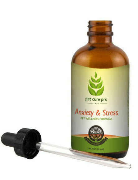 Pet Anxiety relief stress calming treatment, dog and cat, 2 oz bottle
