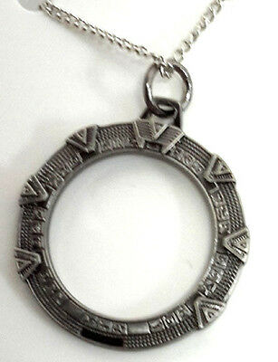 Stargate SG-1 Star Gate Metal Necklace w Chain- Mailed from USA