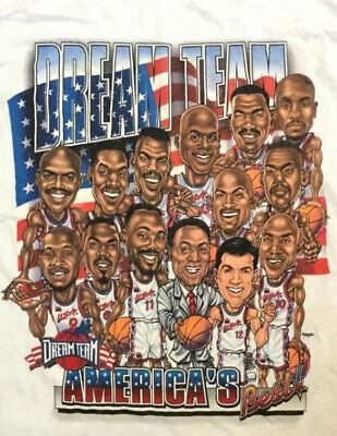 Vintage 90s America's Best Dream Team Basketball t-shirt American T Shirt