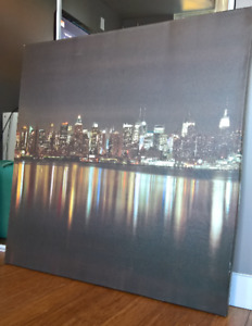 """Canvas Print /Picture of New York Skyline, 40"""" x 40"""""""