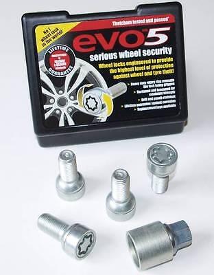 EVO 14x1.5mm Locking Wheel Bolts Radius for VW Audi Seat Skoda