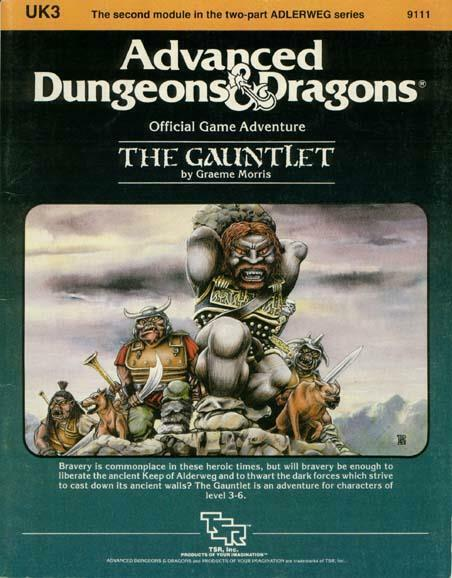 TSR AD&D 1st Edition Gauntlet VG