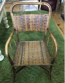Vintage Antique child's rattan / wicker armchair