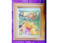 Winnie the Pooh Glass Photoframe