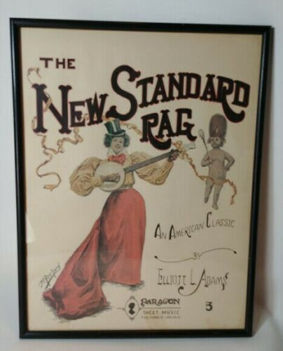 The New Standard Rag Sheet Music Minstrel Black Americana