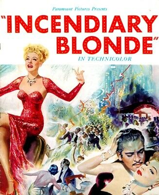 INCENDIARY BLONDE pressbook, Betty Hutton, Charles Ruggles, Barry Fitzgerald