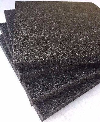 4 Pack 1 X 12 X 12 Black Polyethylene Foam 1.7pcf Free Shipping