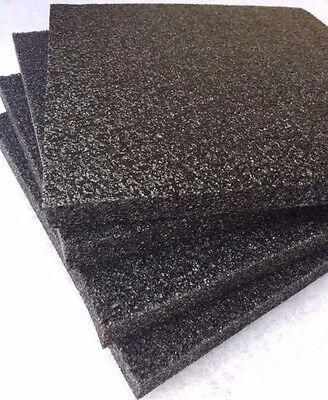 4 Pack 1 X 12 X 12 Black Polyethylene Foam 1.7pcf Free Shipping