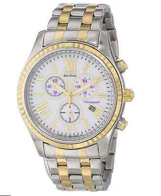 NWT Ladies Citizen FB1364-53A Eco-Drive Two-Tone Stainless Chronograph Watch