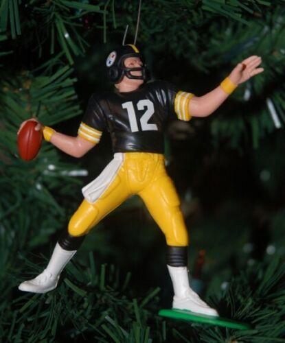 Terry Bradshaw Pittsburgh Steelers #12 Football Christmas Ornament Black Jersey