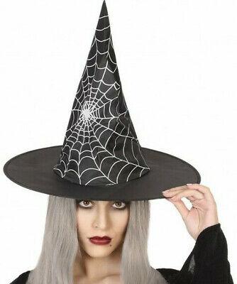 Hut mit Spinnennetz Design für Kostüm Hexe Hexenhut Spinnenfrau Halloween - Spinnennetz Halloween Kostüm