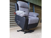 Ex Display/Unused Riser Recline Fabric Chair - Charcoal/Black