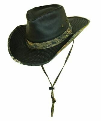 NWT MOSSY OAK WEATHERED COTTON OUTBACK HAT - BROWN/CAMO - XL (MSRP $30.00)