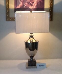 BEAUTIFUL, LARGE RENWIL TABLE LAMP WITH SHADE