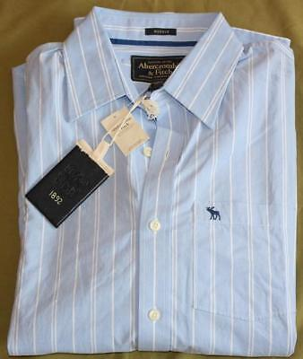 Abercrombie And Fitch Azul Rayas First Calidad Camisa XL