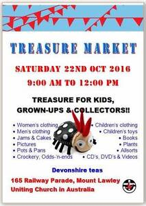 Treasure Sale (Jumble Sale) - Maylands Mt Lawley UC THIS SATURDAY Mount Lawley Stirling Area Preview