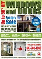 Best Prices!!! vinyl windows and doors- 416-661-6666