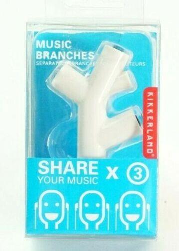 Kikkerland Music Branches 3Way Head Ear Phone Splitter US005-W Share Music White