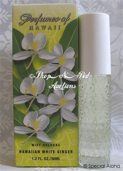 Hawaiian White Ginger Cologne By Perfumes Of Hawaii 1.2oz Aloha Floral Leis