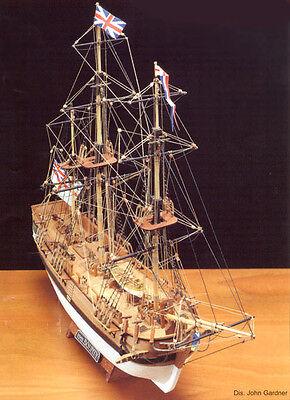 "Beautiful, Popular Wooden Model Ship Kit by Mamoli: the ""HMS Bounty"""