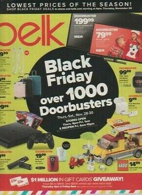 Belk Catalog Magazine November 2019 Black Friday over 1000 Doorbusters