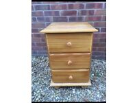 Lovely solid pine bedside table. P