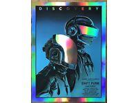 Daft Punk DJ Pop Art Wall Cloth Poster Print 519