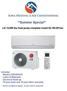 Summer Sale on Heat Pumps by Sona Heating & Air Conditioning!