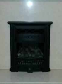 Inset gas fire