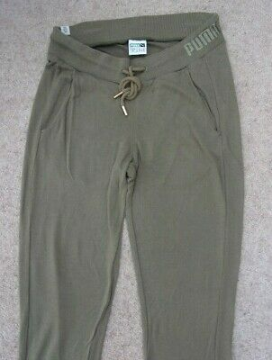 PUMA Khaki Leisure Pants. Slim fit Styling & Shaping. 2 front pockets. UNISEX.