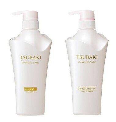 Tsubaki SHISEIDO JAPAN Damage Care Shampoo 500ml & Conditioner 500ml Set