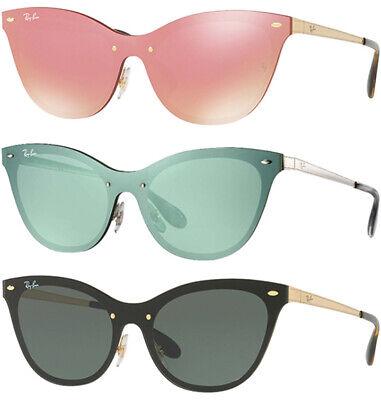 Ray-Ban Blaze Women's Brushed Metal Rimless Cat-Eye Sunglasses - (Ray Ban Sunglasses Cat Eye)