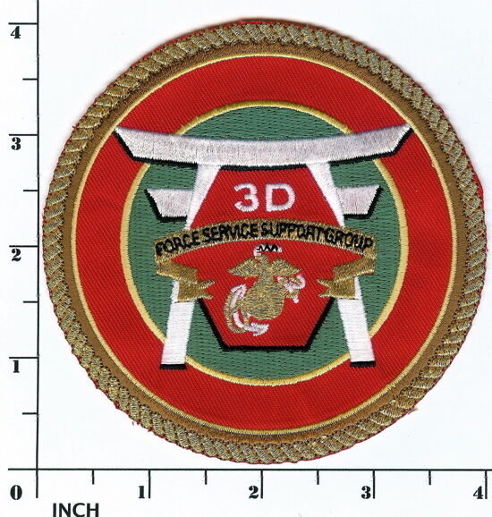 USMC 3d FSSG Marines PATCH ! 3rd Force Service Support Group now obsolete RARE !