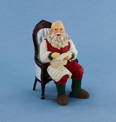 FABULOUS 1:12 Dollhouse Miniature Seated Santa Claus Doll #HW3048