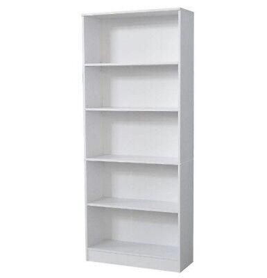 5 Series Hampton Bay Standard Heavy Duty Furniture White Bookcase Storage -