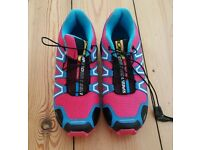 For sale is a pair of the brand new ladies Salomon Speedcross 3 trainers.