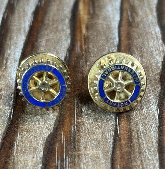 Rotary International vintage 10k gold tie tack lapel pin lot