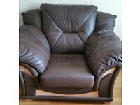 Brown Italian leather seat