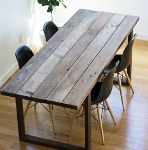 Tavolo vintage legno massello gambe in ferro 160x80 ebay for Tavoli shabby chic usati