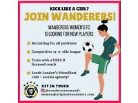 Womens/ladies 11-a-side football