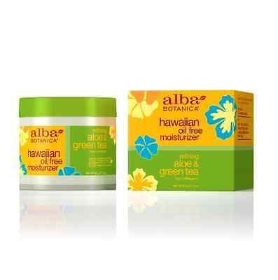 Alba Botanica Hawaiian Oil-Free Moisturizer, Refining Aloe - Green Tea 3 oz