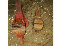 Number 3 and number 8 vice old but in working condition very heavy