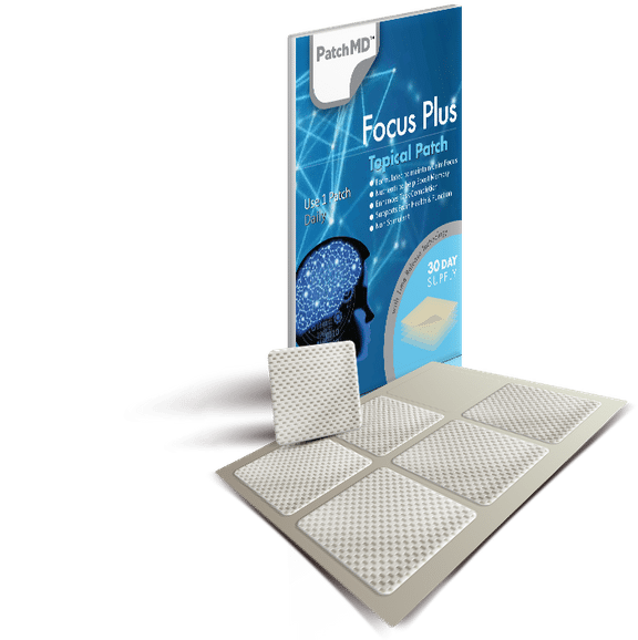 PatchMD Focus Plus - Topical Patch (30 Day Supply) - EXP 2022 1