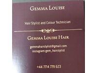 Hair stylist and colour technician