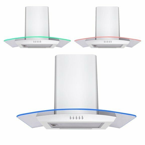 Simple White Kitchen Extractor Fan Coloured Led Curved Glass Cooker Hood To Decorating Ideas