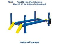 Brand New 4 Post Wheel Alignment Lift Ramp 5.5 Ton Capacity With 5100mm Platforms 1ph/3ph E4G 412A