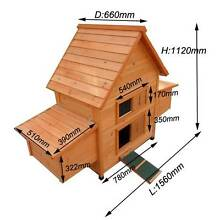 Large Classical Chicken Coop house Chook Hutch w double Egg Cage Keysborough Greater Dandenong Preview